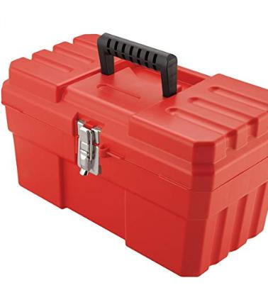 Akro Mils 14 Inch Probox Plastic Tool Box Red Plastic Tool Box Craft Storage Tool Box