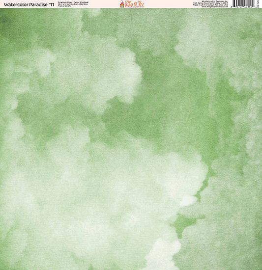 b6bd7ee5d5407 Ella and Viv Paper Company - Watercolor Paradise Collection - 12 x 12 Paper  - Eleven