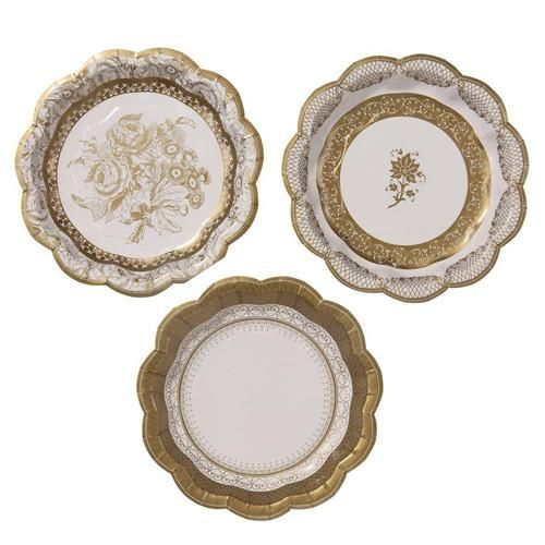 Gold Paper plates with a gold floral design perfect for a princess birthday tea party.  sc 1 st  Pinterest & Gold Paper plates with a gold floral design perfect for a princess ...