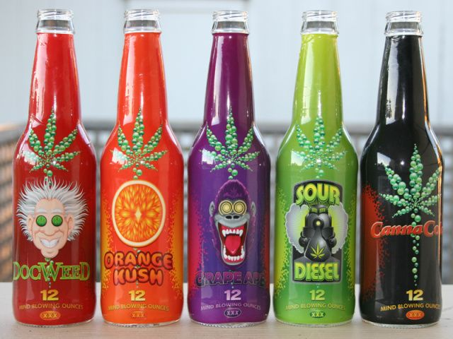 Pot Infused Pop Doc Weed Or Canna Cola Soda Cannabis