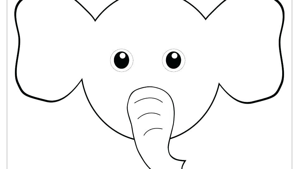 Pig Face Coloring Page Excellent Animal Faces On With Free Printable