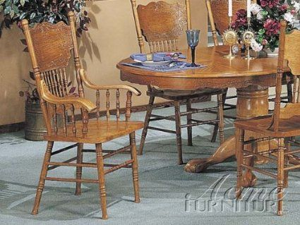 These Unique Nostalgia Double Press Back Side Chairs In Oak Will Add A Nice Sophistication To