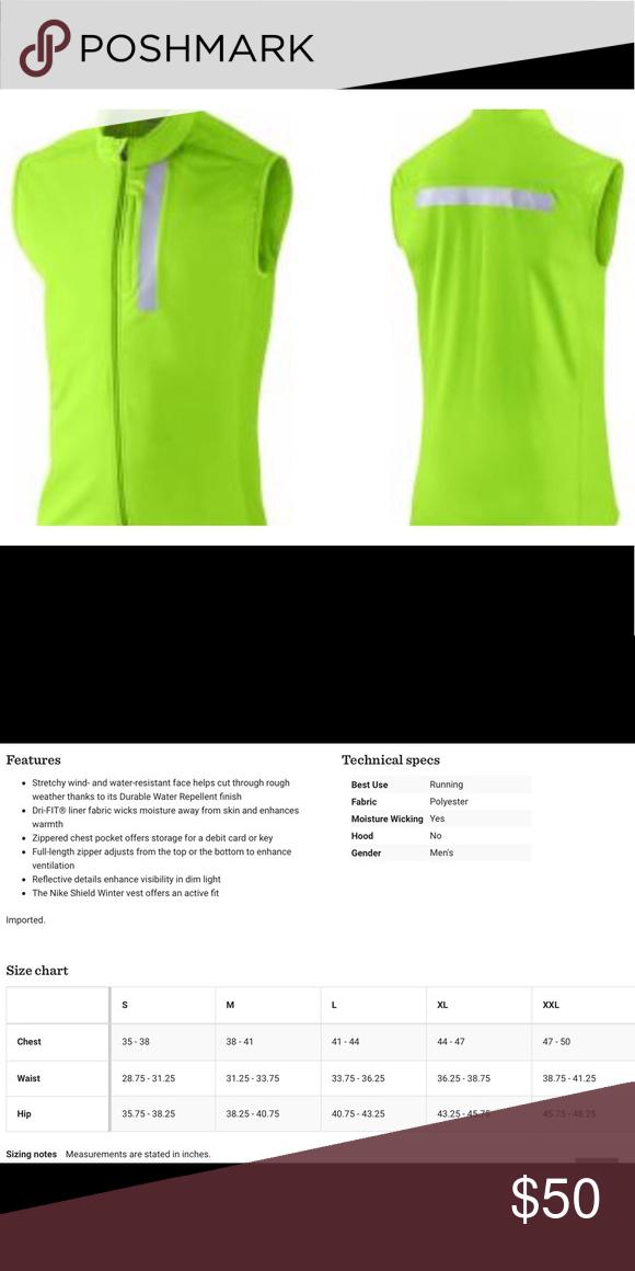 Nike Dri Fit Shield Winter Running Vest Sz Sm Nike Dri Fit Shield