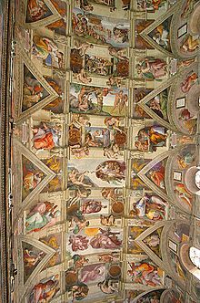Le Plafond Peint De La Chapelle Sixtine Le Vatican Vers 1510 Par