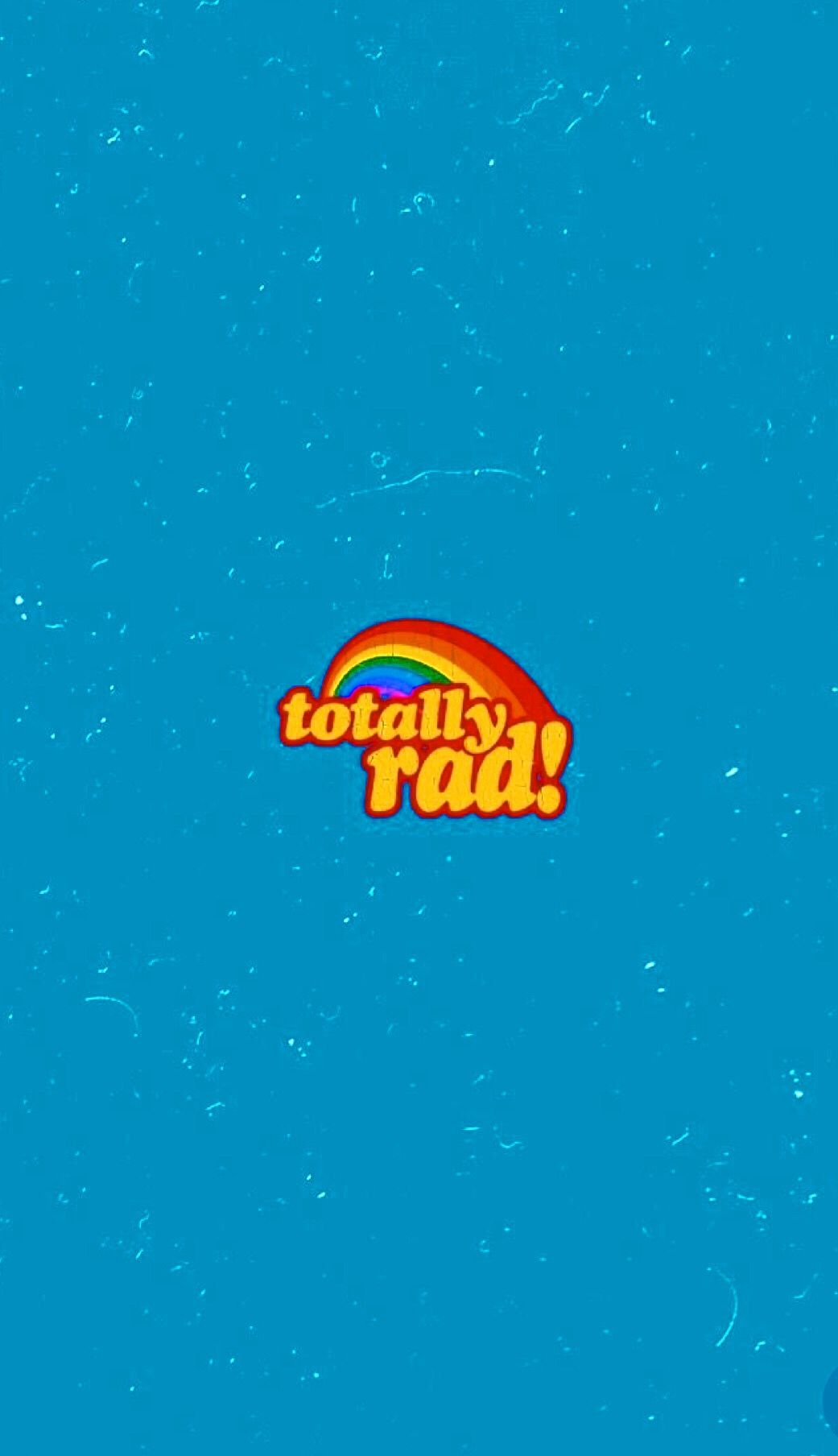 Wallpaper Vintage 80' totally rad! Blue Rainbow