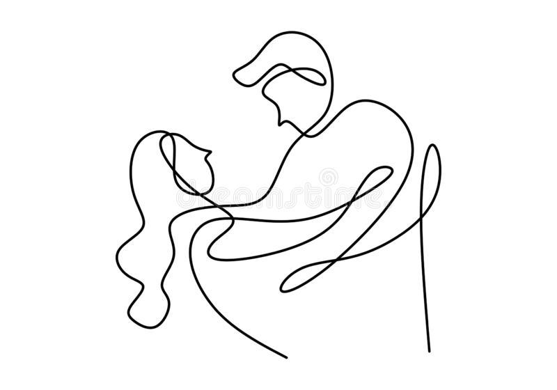 Pareja Bailando Con Dibujo Lineal Continuo Diseno Minimalista Vector Un Boceto Dibujado A Mano Li Minimalist Fashion How To Draw Hands Continuous Line Drawing