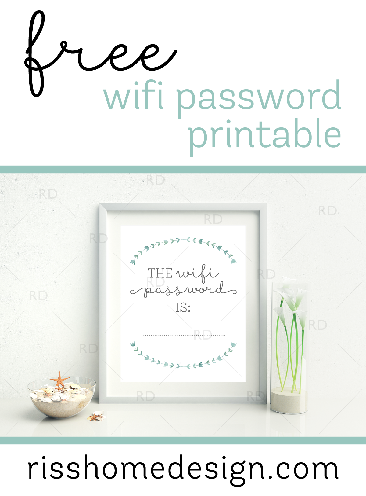 free wifi password printable for your home awesome to display in a guest room or living for. Black Bedroom Furniture Sets. Home Design Ideas