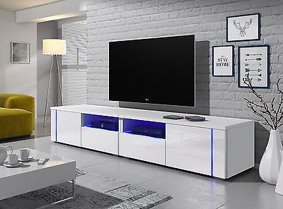 Modern Tv Stand Mirage Double Cabinet Tv Table Unit In Choice Of Colour Free Led Table Tv Modern Tv Stand Modern Tv