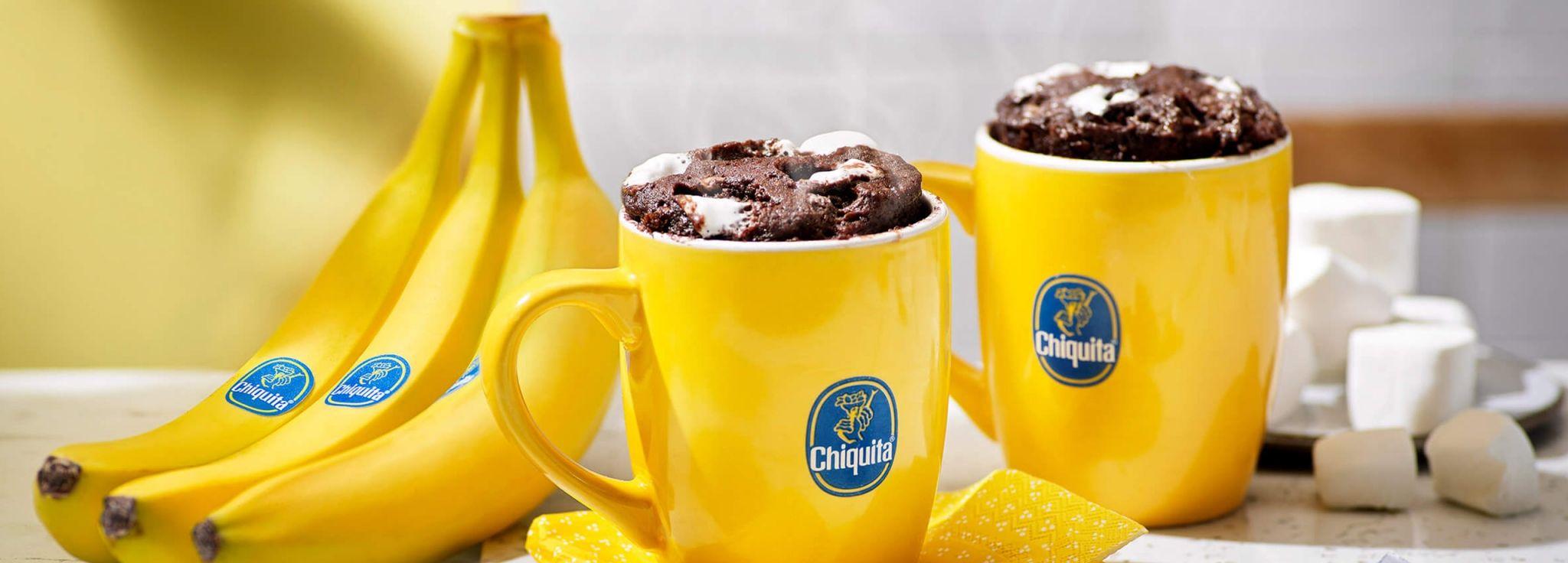 5 minute Chiquita banana Fudge S'mores Mug Cake   Recipe ...