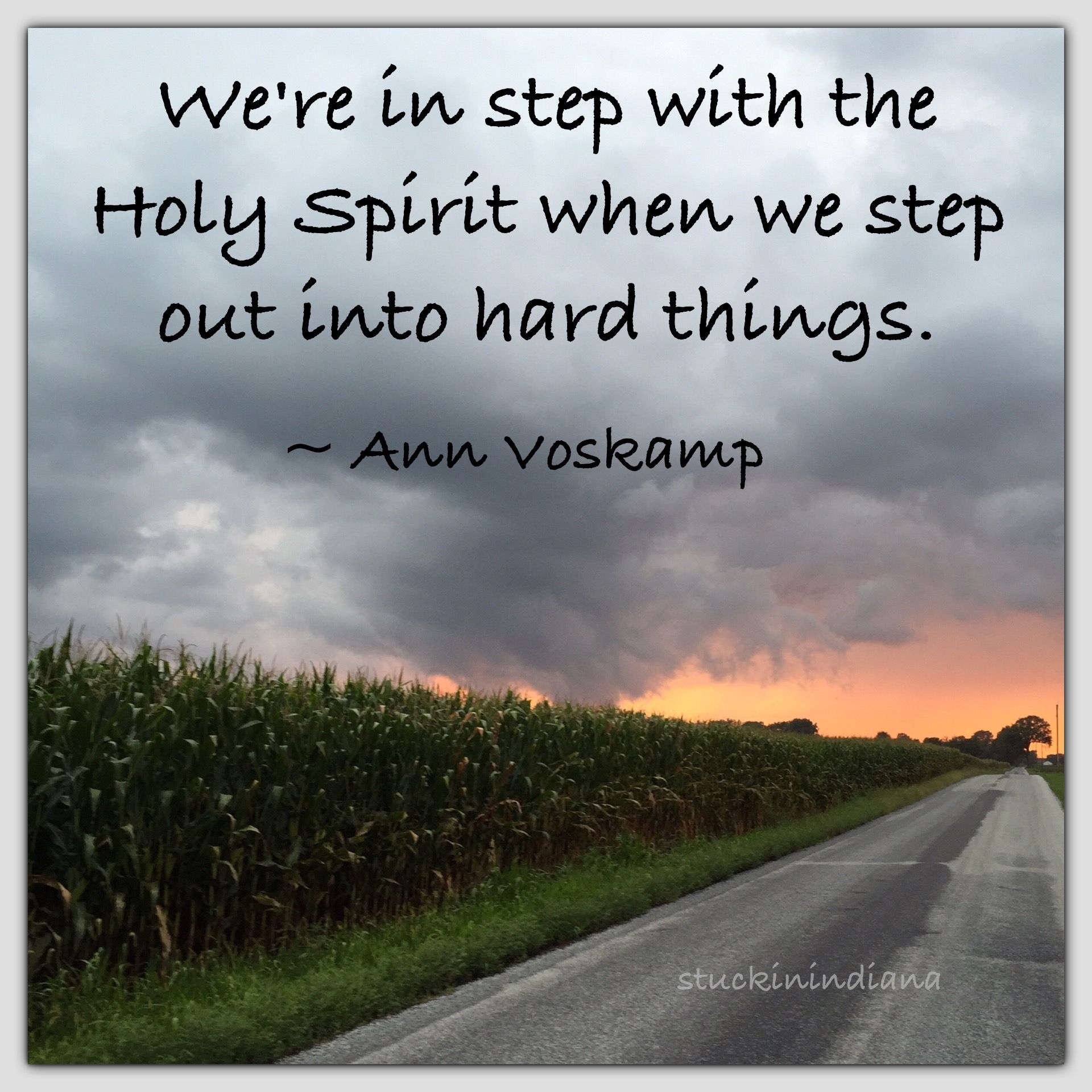 Quotes About The Holy Spirit We're In Step With The Holy Spirit When We Step Out Into Hard