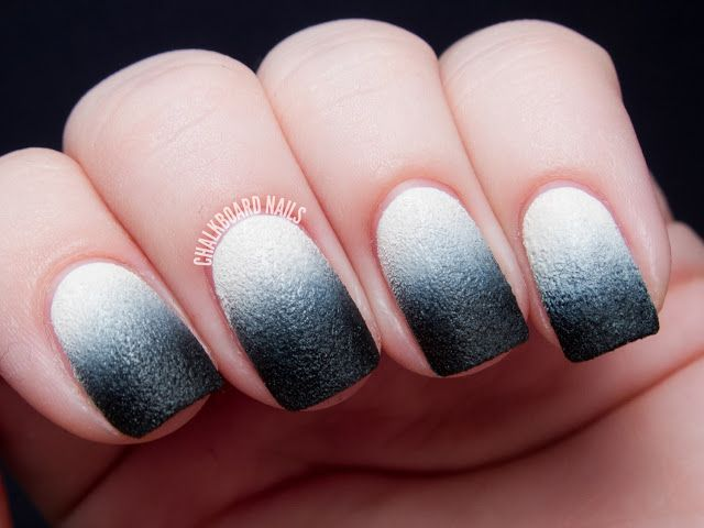 31DC2013 Day 10: Nails Inc. Leather Gradient | Chalkboard Nails