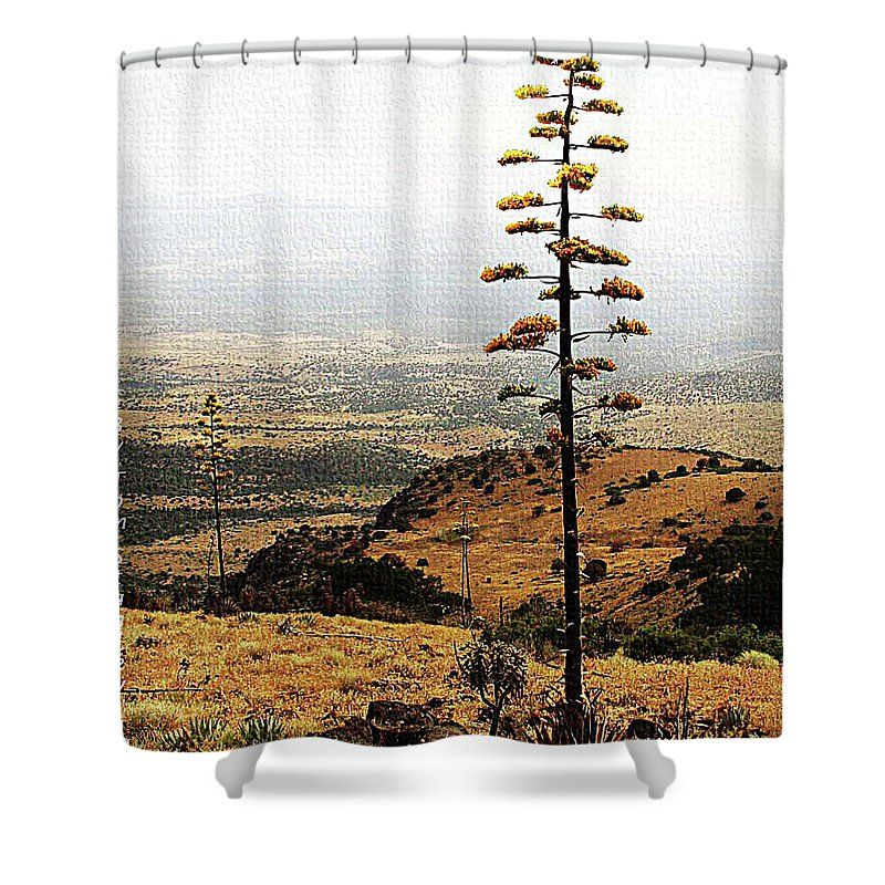 High Plains Agave Shower Curtain by Tom Janca. This shower curtain ...