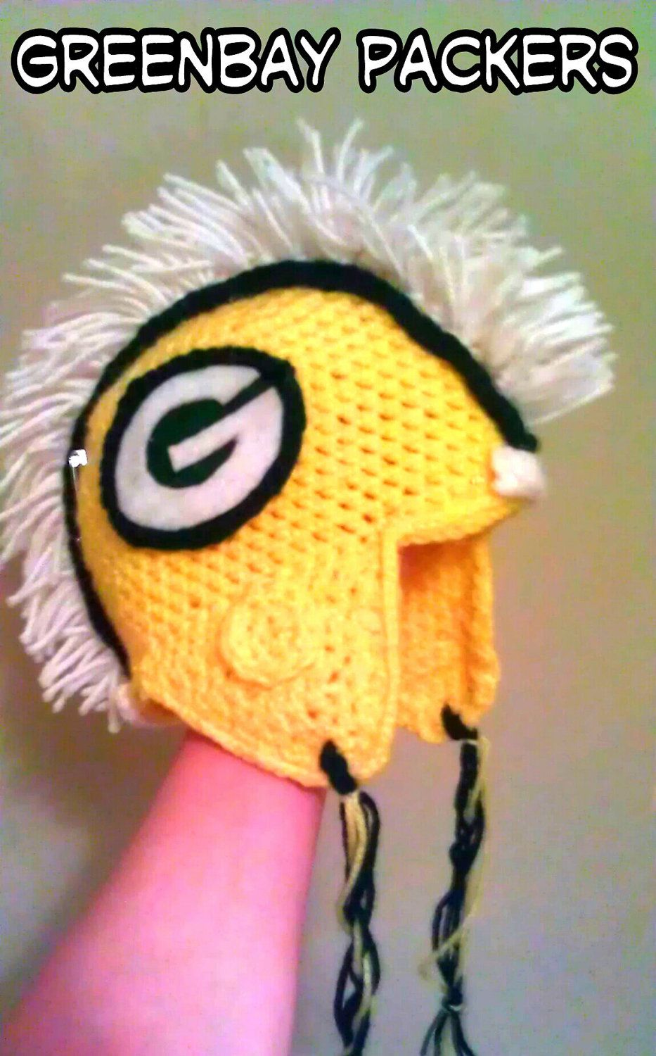 Helmet mohawk beanie of your favorite nfl team greenbay packers