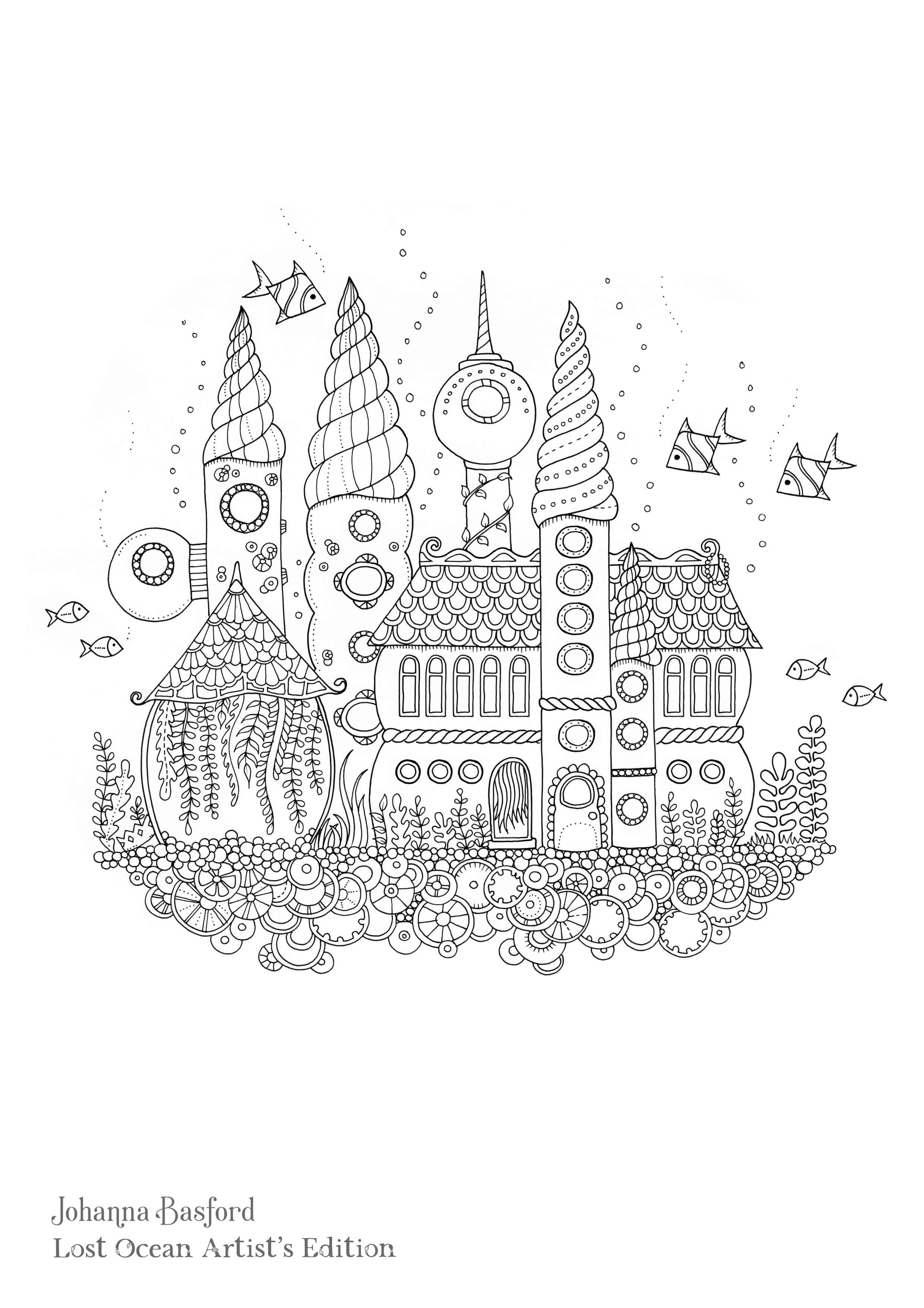 - Johanna Basford Coloring Pages In 2020 Lost Ocean Coloring Book