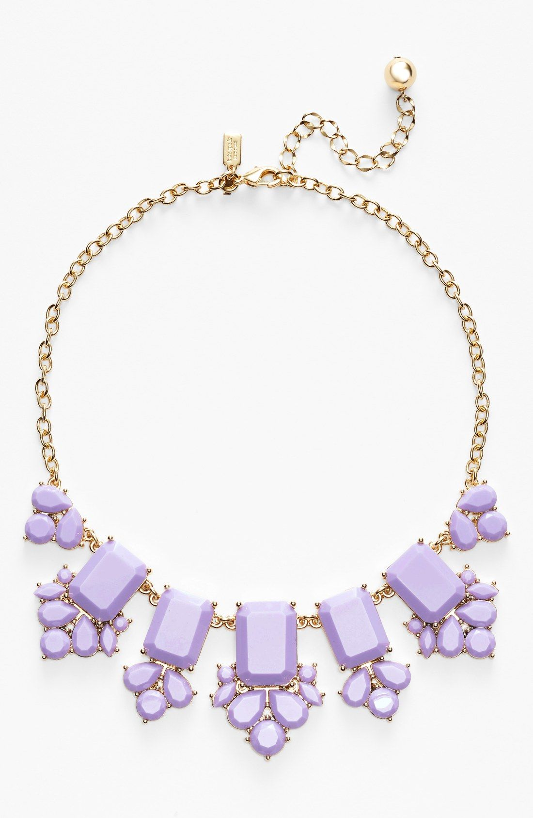 In love with this Lilac Kate Spade statement necklace! || ケイト・スペードのライラックカラーネックレス