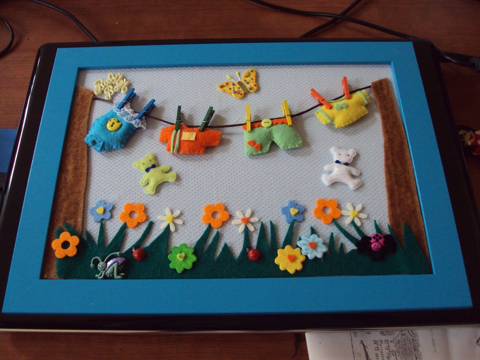 10 ideas faciles decoracion habitaciones infantiles - Manualidades faciles cuadros ...