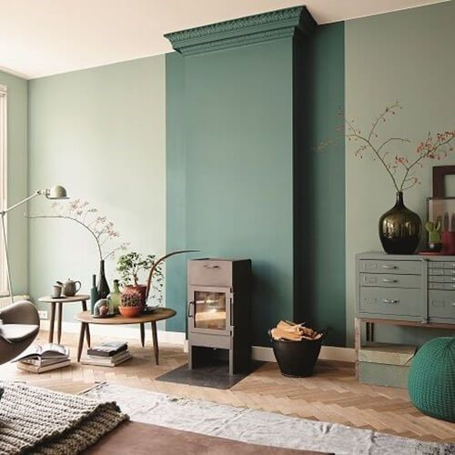 interieurtips-groene-muur-accentmuur | Home | | Pinterest ...