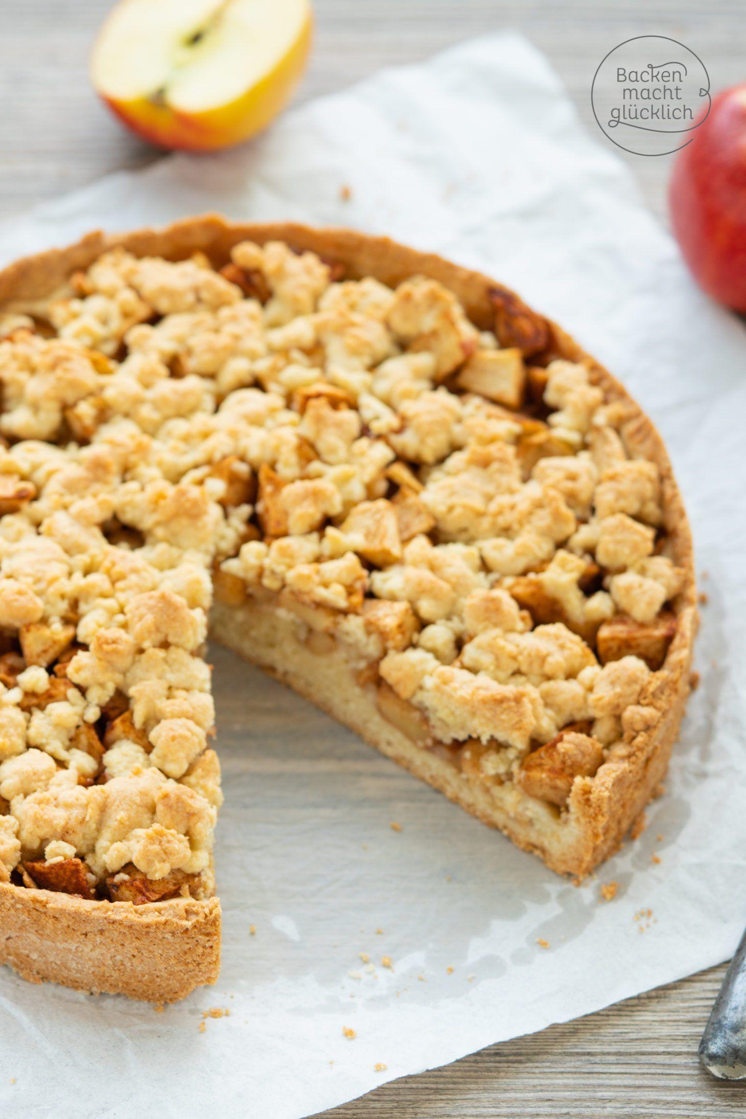 Leckerer Apfel-Streusel-Kuchen | Backen macht glücklich