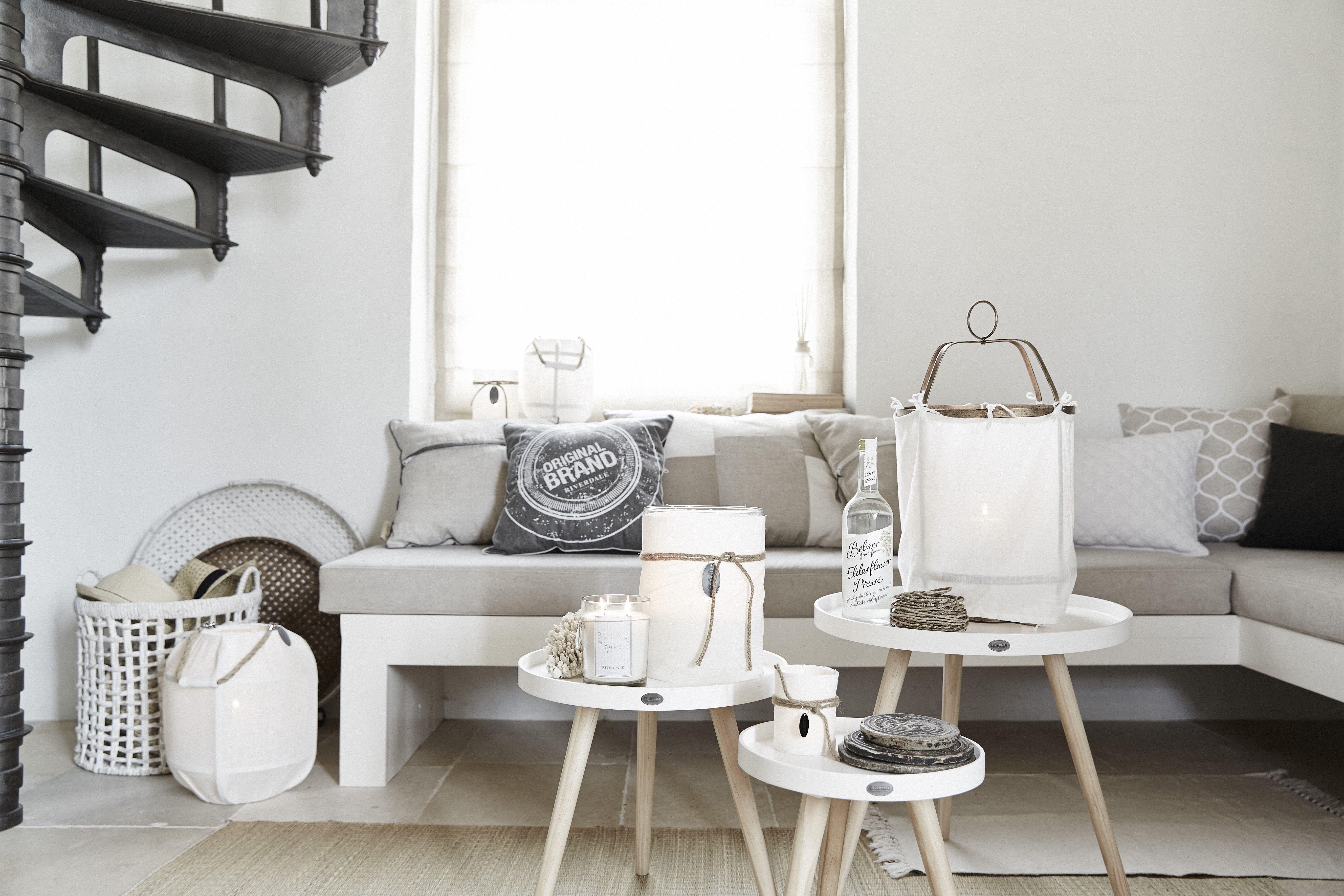 Scandinavisch Bohemian Interieur : Riverdale landelijk naturel wit beige hout beach scandinavisch