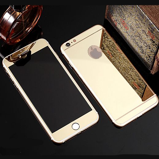 dca36d96c62 Front + Rear Premium Tempered Mirror Glass Electroplating for iphone 6 plus  6s plus 6 6s 5 5s SE 4 4s Colorful Screen No Logo //Price: $US $1.15 & FREE  ...