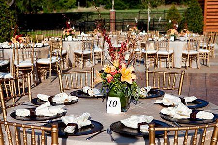 Garden Reception Setup At Belltower Chapel Fortworth Wedding Gardenwedding