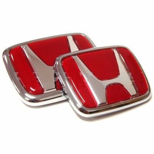 Red Honda Emblem Type R Badge Jdm Set Logo Sport Car Civic Accord Integra Vtec Honda Type R Honda Japanese Domestic Market
