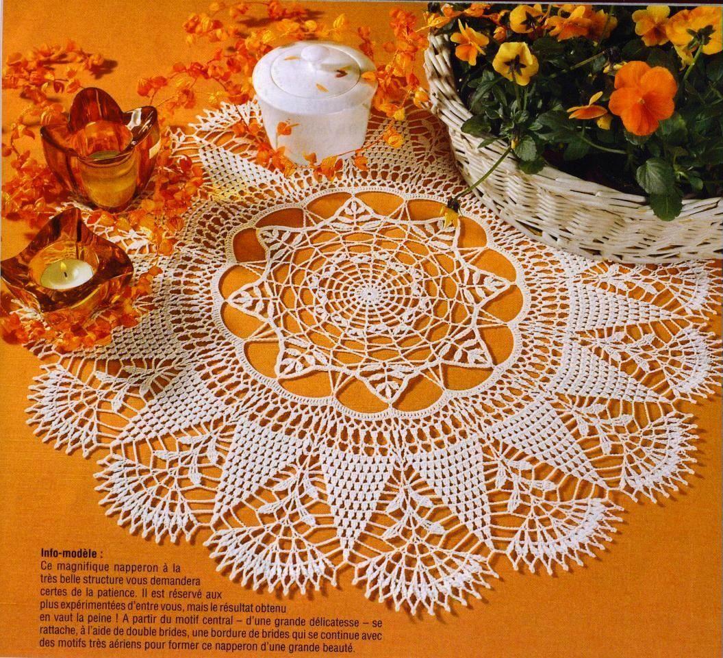 Grand Napperon Au Crochet destiné napperons au crochet   el işi ve dantel