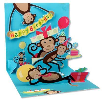 Popup Birthday Card Monkeys Paper Engineering – Birthday Card Monkey