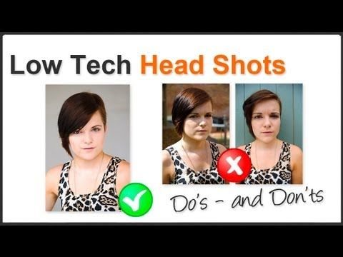 Photography Tip - Shoot Professional Looking Head Shots At Home - YouTube