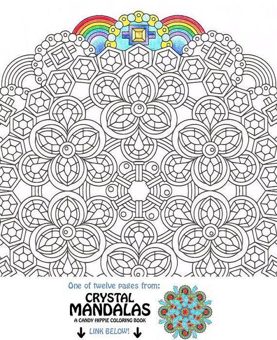Coloriage de Mandala - Topaz clair de lune - art imprimable mandala ...