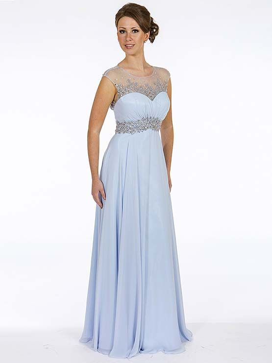 Prom Frocks Powder Blue Prom Dress PF9157 - Prom Frocks UK Prom ...