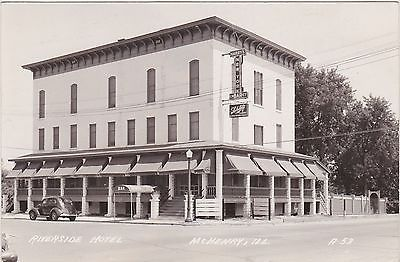 Riverside Hotel Mchenry Illionis Photo Postcard Scenes Rppc Il Ill In Collectibles Postcards Us