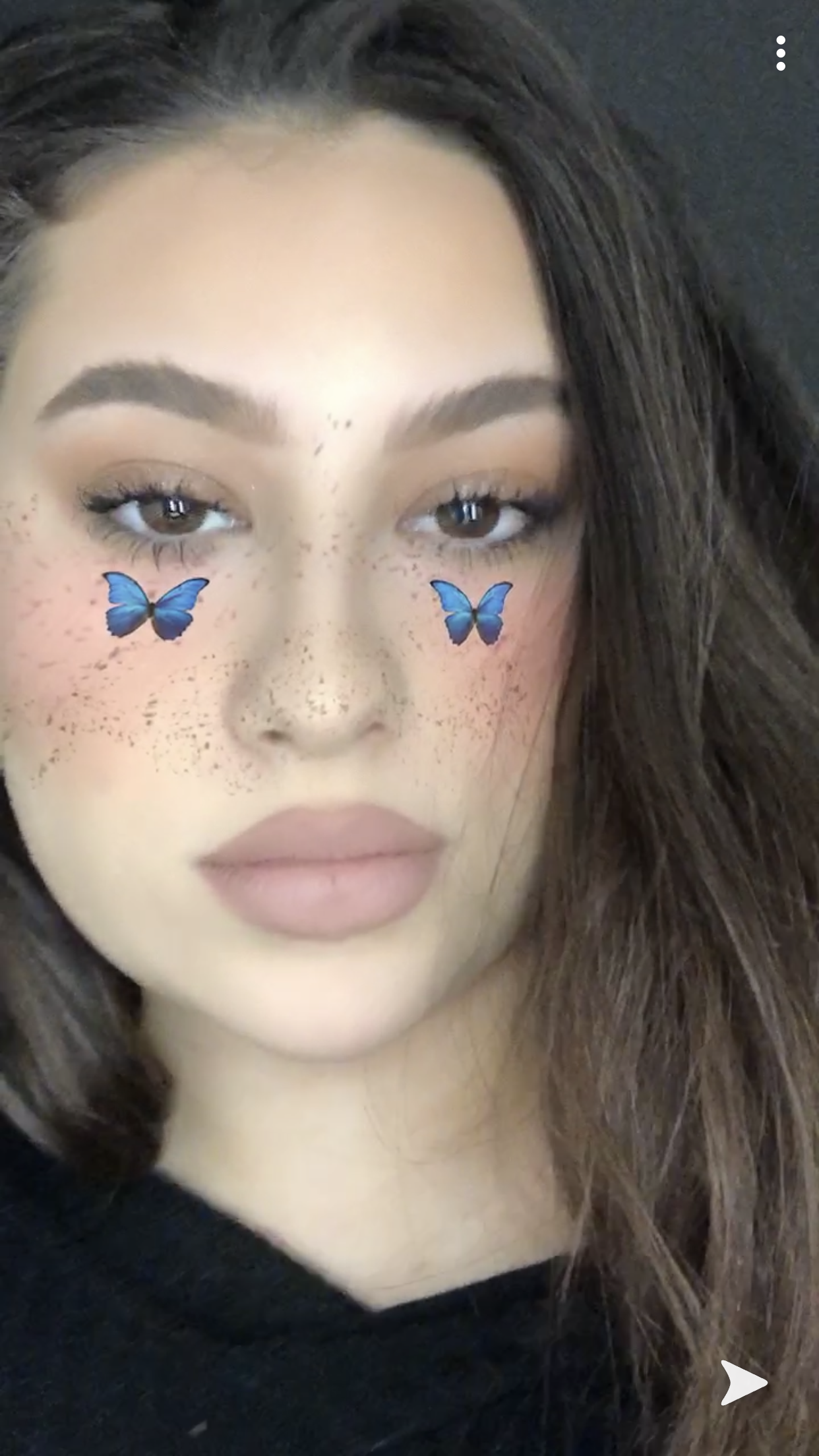 IG Josephine.Perso Butterfly makeup, Snapchat filter