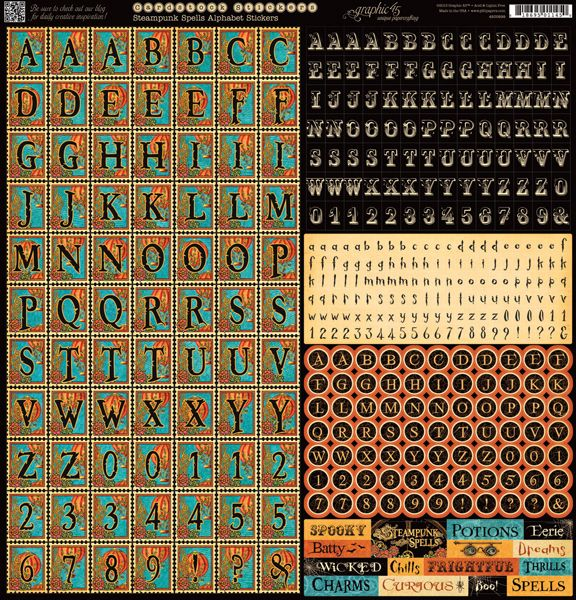 Graphic 45 - Steampunk Spells Collection - 12 x 12 Cardstock Stickers - Alphabet at Scrapbook.com $3.99