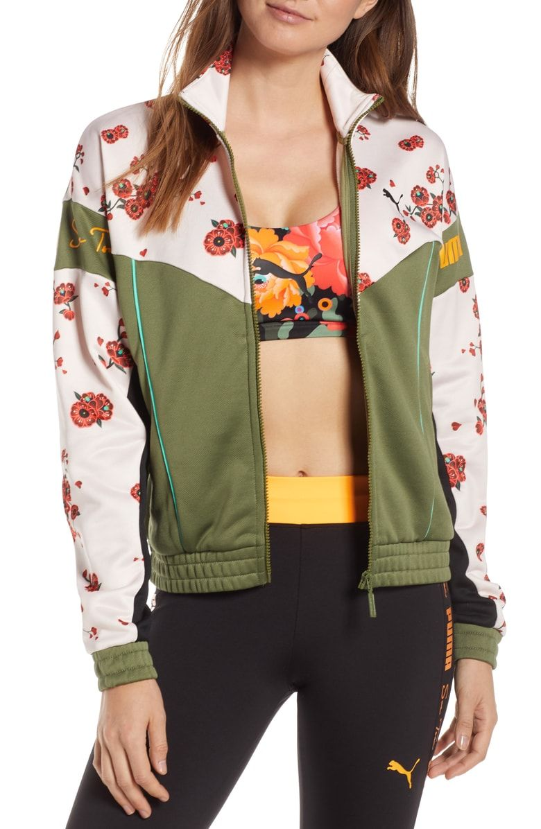 cee0462e4 Free shipping and returns on PUMA x Sue Tsai XTG Floral Track Jacket at  Nordstrom.