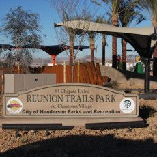 Reunion Trails Park Dog Park In Henderson Nv Dog Park Henderson