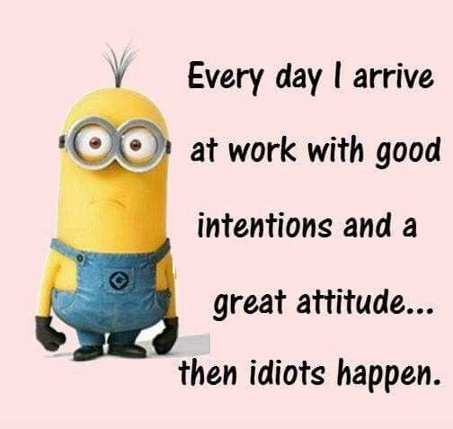 Idiots Happen Funny Minion Quotes Minions Funny Minions Quotes