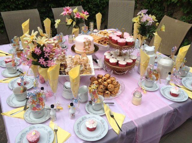 Tea Party Theme Table Set Up  Ak