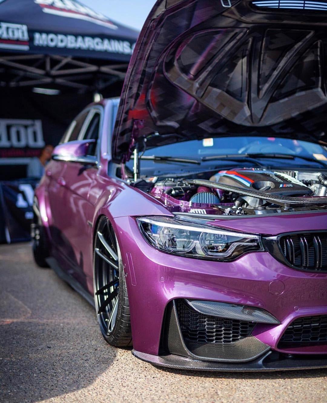 Bmw F82 M4 Slammed In Bmw Individual Purple Silk Metallic Bmw Bmw Cars Bmw M4