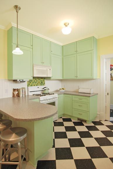 Photo Gallery: Checkerboard Kitchen Floors | Home Style | Pinterest ...