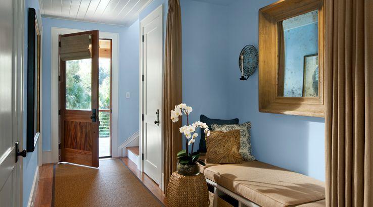 Hgtv Foyer Paint Ideas : Blissful blue sw hgtv dream home foyer