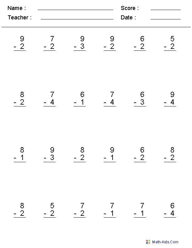 2nd Grade Subtraction Worksheets Subtraction Worksheets Math Subtraction Worksheets Math Subtraction Addition and subtraction easy worksheets