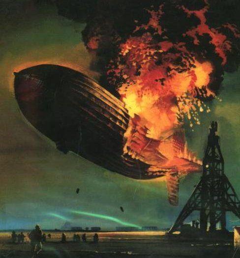The Hindenburg Disaster At Lakehurst New Jersey On May 6