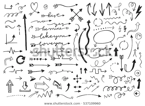 Hand Drawn Vector Arrows Set Stock Vector (Royalty Free