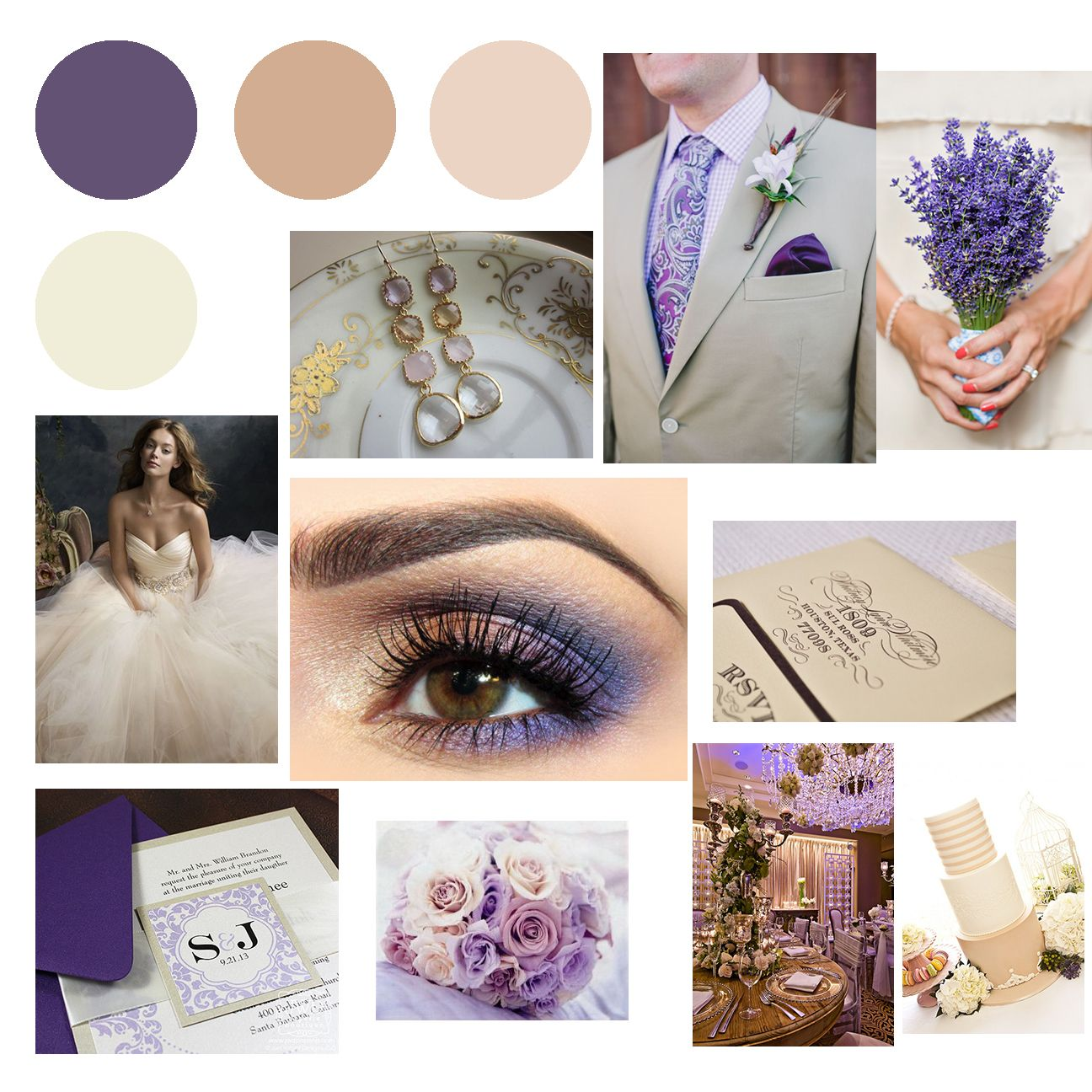 Wedding Inspiration: Purple & Champagne - Richmond Weddings ...
