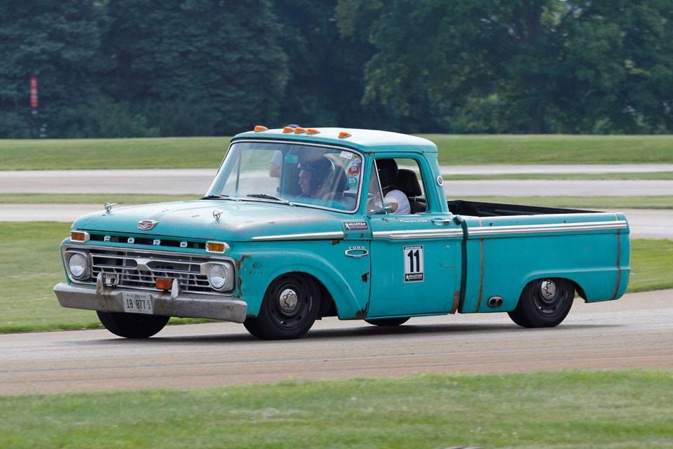 1966 F 100 autocrossing atMotor Stae Challenge on crown vic