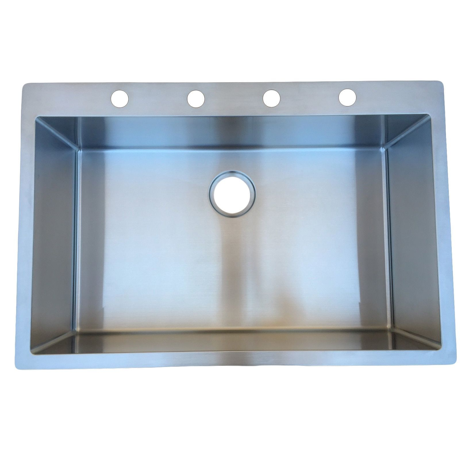 StarStar 33 X 22 Top-mount Drop-in Stainless Steel Single Bowl ...