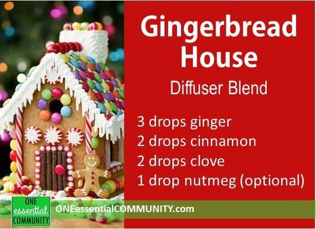 gingerbread house diffuser blend plus 40 more christmas essential oil diffuser recipes