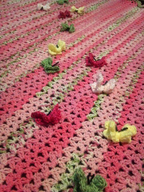 Crochet butterfly baby blanket | Crochet, Crochet ...