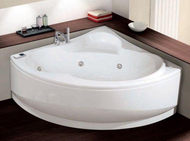 baignoire d\'angle + tablettes autour   Salle de bain   Pinterest